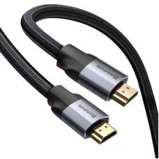 Кабель Baseus Enjoyment Series 4KHD Male To 4KHD Male Adapter Cable 0.5m (CAKSX-A0G) - Dark gray