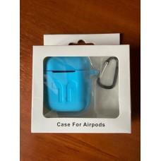 Чехол Силиконовый для AirPods - Голубой