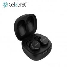 Наушники беспроводные Celebrat W1 Mini BT Earbuds Earphones TWS - Black