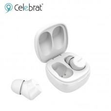 Наушники беспроводные Celebrat W1 Mini BT Earbuds Earphones TWS - White
