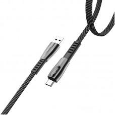 Кабель hoco U70 Splendor charging data cable for Micro - Dark Gray
