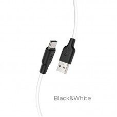 Кабель hoco X21 Plus Silicone charging cable for Type-C (L=1M) - Black/White