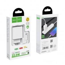 Сетевой адаптер hoco C69A Dynamic power fully compatible (Micro 7pin) (EU) - White
