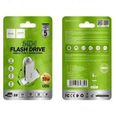 Флеш-накопитель USB / Type-C hoco UD8 Smart 3.0 - 32GB