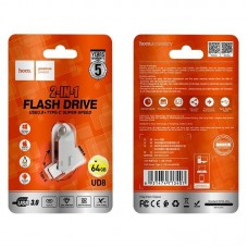 Флеш-накопитель USB / Type-C hoco UD8 Smart 3.0 - 64GB