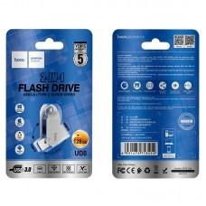 Флеш-накопитель USB / Type-C hoco UD8 Smart 3.0 - 128GB