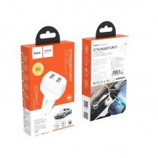 Автомобильное ЗУ hoco Z36 Leader Micro - White