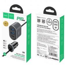 Автомобильное ЗУ hoco Z35 Companheiro PD3.0 - Metal Gray