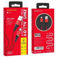 Кабель Borofone Micro BU25 Glory - Red