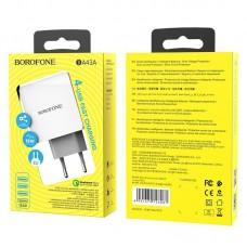 Сетевой адаптер Borofone Wall charger BA43A Bountiful QC3.0 - White