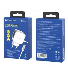 Сетевой адаптер Borofone BA41A Micro - White
