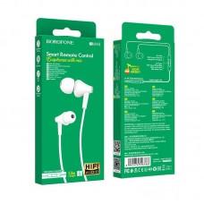 Наушники Borofone Wired earphones BM49 Player - White