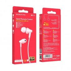 Наушники Borofone Wired earphones BM49 Player - Pink