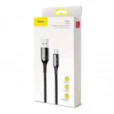 Кабель Baseus C-shaped Light Intelligent power-off Cable USB For Type-C 3A 1M (CATCD-01) - Black