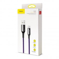 Кабель Baseus C-shaped Light Intelligent power-off Cable USB For Type-C 3A 1M (CATCD-05) - Purple