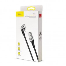 Кабель Baseus Green U-shaped lamp Mobile Game Cable USB For iP 2.4A 1M (CALUX-A01) - Black