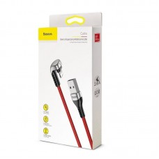 Кабель Baseus Green U-shaped lamp Mobile Game Cable USB For iP 2.4A 1M (CALUX-A09) - Red
