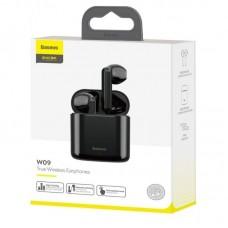 Наушники Baseus беспроводные W09 Tru Wireless Earphones (NGW09-01) - Black