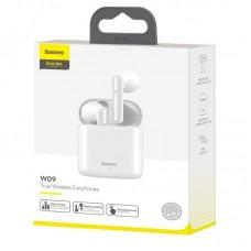 Наушники Baseus беспроводные W09 Tru Wireless Earphones (NGW09-02) - White