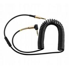Кабель hoco UPA02 AUX Spring Audio cable (with Mic) - Black
