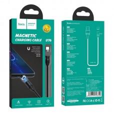 Кабель hoco U76 Fresh magnetic charging cable for Type-C - Black