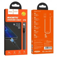 Кабель hoco U76 Fresh magnetic charging cablefor Micro - Black