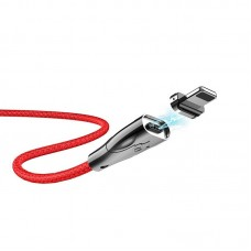 Кабель hoco U75 Blaze magnetic charging data cable for Lightning - Red