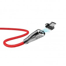 Кабель hoco U75 Blaze magnetic charging data cable for Micro - Red