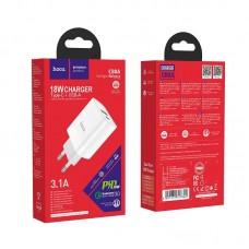Сетевой адаптер hoco C80A Rapido PD+QC3.0 charger (EU) - White