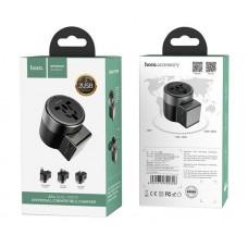 Зарядный конвертер hoco AC4 Dual port rotating charging universal converter - Black