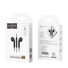 Наушники hoco M55 Memory sound wire control earphones with mic - Black