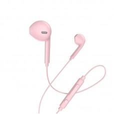 Наушники hoco M55 Memory sound wire control earphones with mic - Pink