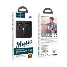 Наушники hoco M67 Passion Type-C in-line control eaphones with mic - Black