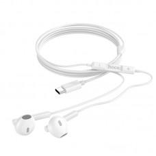Наушники hoco M65 Special sound Type-C wire control earphones with mic - White