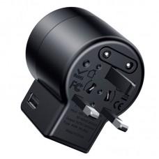 Сетевой адаптер переходник Baseus Rotation Type Universal Charger (ACCHZ-01) - Black