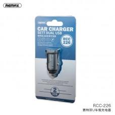 Автомобильное ЗУ REMAX Sett Series 2.4A Dual USB Car Charger RCC226 - Tarnish