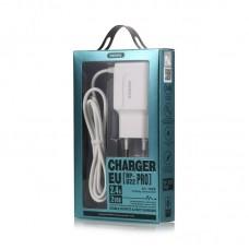 Сетевой адаптер REMAX Charging RP-U22 PRO 2.4A For Micro Cable EU - White