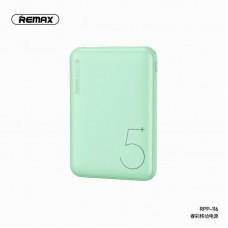 Power Bank REMAX Ritry Series 2 USB 5000mAh RPP-116 - Green