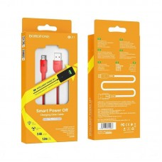 Кабель Borofone BU17 Starlight smart power off charging data cable for Micro - Red