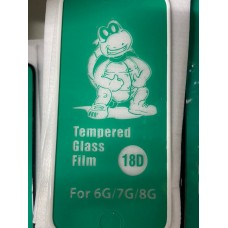 """Защитное стекло 18D """"Tempered Glass Film"""" силиконовые края для Iphone 6/7/8 - White"""