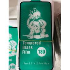 """Защитное стекло 18D """"Tempered Glass Film"""" силиконовые края для Iphone XS Max/11 Pro Max"""