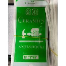 "Защитное стекло ""ceramics anti-shock film"" для Iphone 7/8 Plus - White"