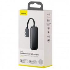Хаб Baseus Type-C Multifunctional HUB Adapter (2*Type-C to HDMI*2+USB3.0*2+SD/TF*1+PD+RJ45) (CAHUB-FZ0G) - Space Gray