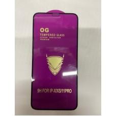 """Защитное стекло """"OG"""" для Iphone X/XS/11 PRO - Black"""