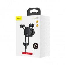 Автомобильный держатель Baseus YY vehicle-mounted phone charging holder with USB cable (IP Version) (SULYY-01) - Black