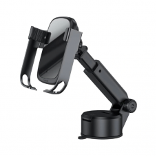 Автомобильный держатель с беспроводной зарядкой Baseus Rock-solid Electric Holder Wireless charger kit (Air Outlet base+Tank Suction base+Car Charger) - Black (WXHW01-B01)