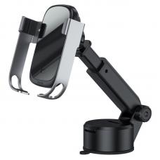 Автомобильный держатель с беспроводной зарядкой Baseus Rock-solid Electric Holder Wireless charger kit (Air Outlet base+Tank Suction base+Car Charger) - Silver (WXHW01-B0S)