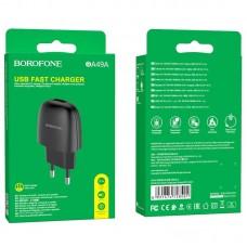 Сетевой адаптер Borofone BA49A Vast power single port charger (EU) - Black