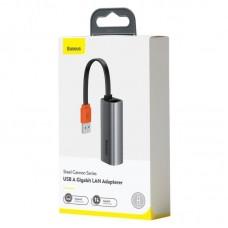 Адаптер Baseus Steel Cannon Series USB A Gigabit LAN Adapter (CAHUB-AD0G) - Dark grey