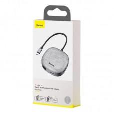 Хаб Baseus Fabric Series 7 in 1 Type-C Multifunctional HUB Adapter (CAHUB-DX0G) - Dark gray